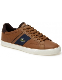 Lacoste sapatilha fairled leather trainers