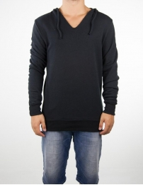 Boombap regular hoodie v-neck man