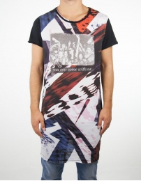 Boombap party-g tee r-neck long laser cut men