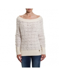 Fracomina fracomina sweatshirt malha com fio tridimensional