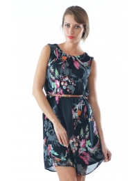 Dress miss sheriff preto estampado