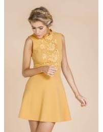 Lima limão vestido detalhes