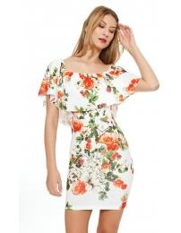 Lima limão vestido floral