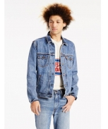 Levis overcoat de ganga orange tab trucker