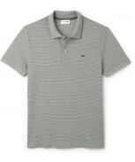 Lacoste polo striped mini piqué