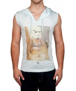 Boombap trooper hoodie v-neck sleeveless