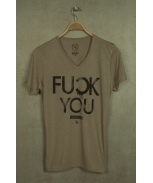 Boombap fyou tee v-neck laser cut men