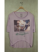 Boombap all night tee cross women