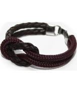 Cabo d'mar reef knot leather/burgundy