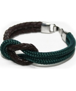 Cabo d'mar reef knot leather/green