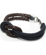 Cabo d'mar reef knot leather/navy