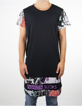 Boombap suck too-g tee r-neck long laser cut men