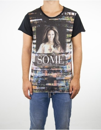 Boombap holly b-g tee r-neck laser cut men