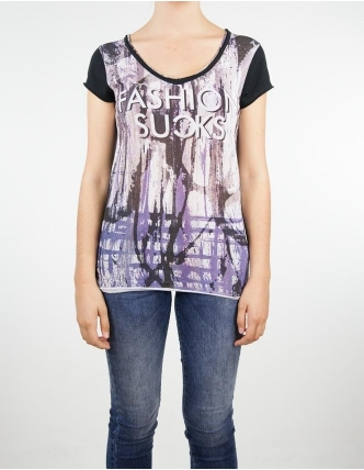 Boombap fashion suck-g tee v-neck women