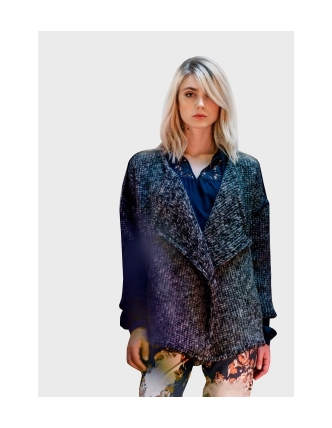 Foursoul shawl collared coat